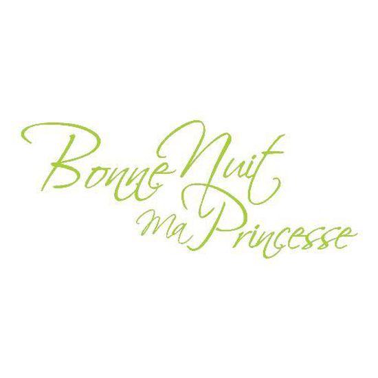 Stickers Bonne Nuit Princesse Ref T Mk1229 Vert Pomme 57x140 Cm