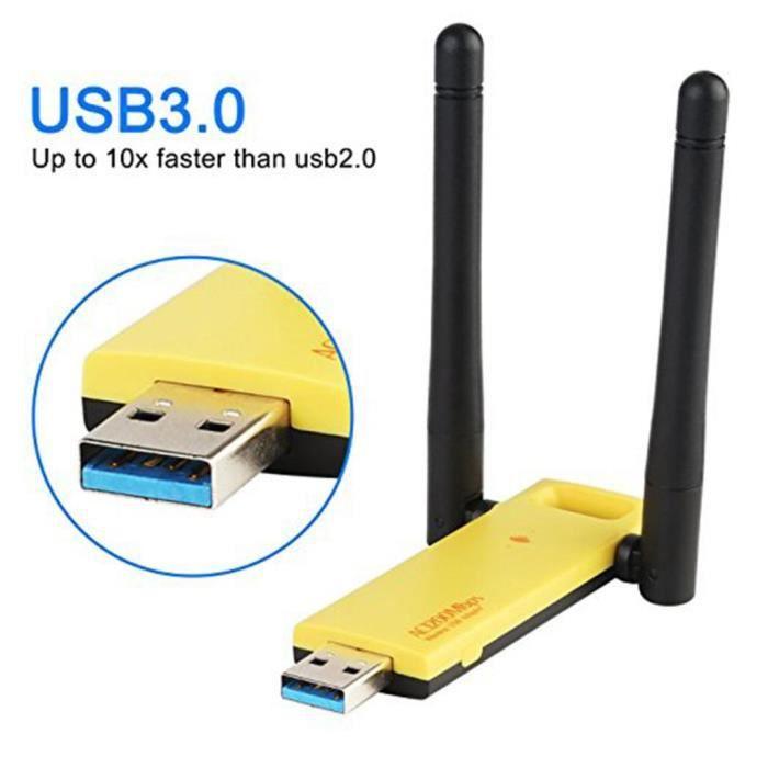 Antenne Bi-bande Wifi Adaptateur USB 3.0 Réseau Sans Fil à Longue Portée Gain Elevé Pièce de Rechange