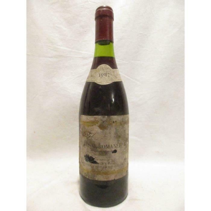 vosne-romanée pascal chevigny (étiquette fragile et abîmée) rouge 1987 - bourgogne