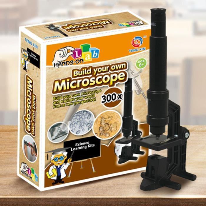 JEU D'ADRESSE Premier microscope jouet de base pour enfants Kit scientifique de grossissement 300X pour enfant 135