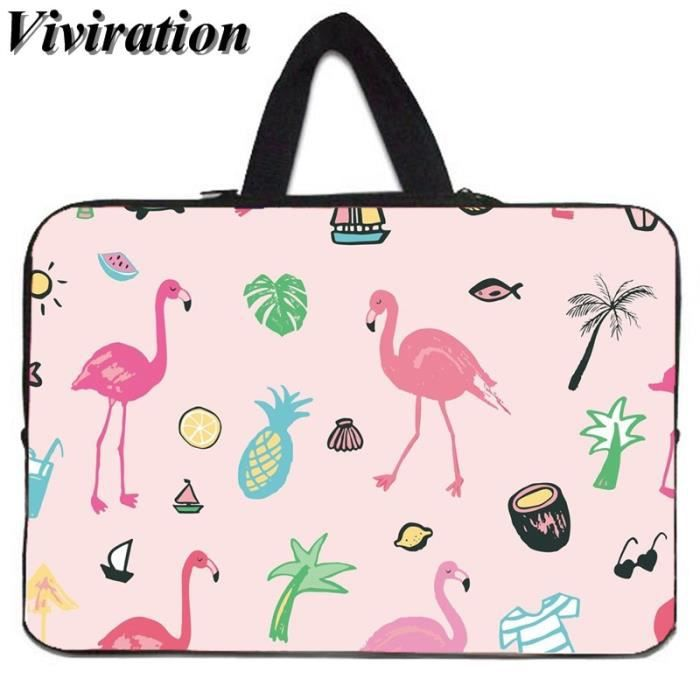 Sacoches & Housses Ordinateur,Viviration housse de transport pour HP MacBook Air 11-Google Chromebook - Type Flamingo006-14 pouces