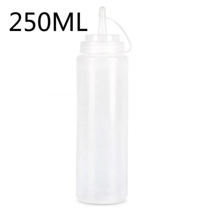 Distributeur de condiments en plastique, bouteille à presser de cuisine pour Sauce vinaigre huile Ketchup Cruet [F791FE3]