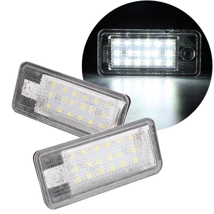 HURRISE Éclairage de plaque d'immatriculation de voiture 1 paire de feux de plaque d'immatriculation arrière à LED pour Audi