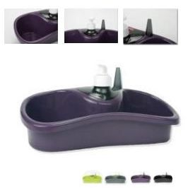 Porte eponge compartimente violet