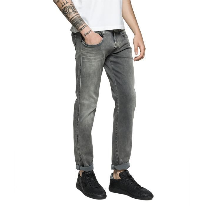 Replay Grey Anbass Slim Fit Stretch 'Hyperflex' Jean - Denim Pants - M914 661-07B 34-30