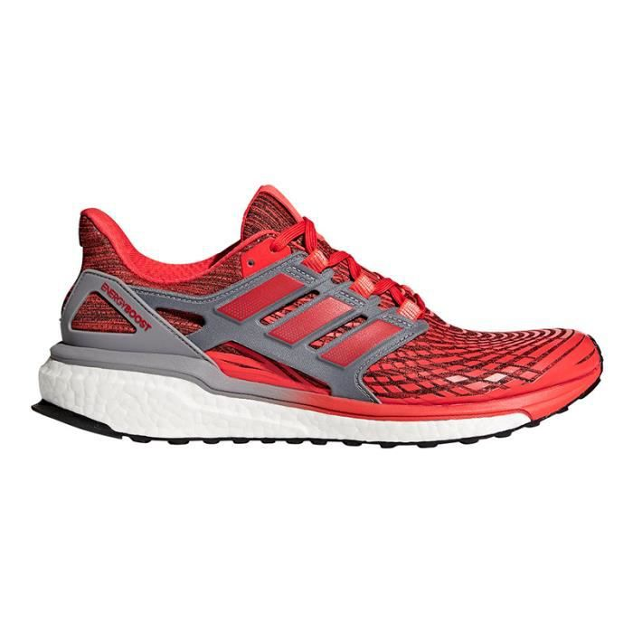Chaussures adidas Energy Boost rouge orange gris