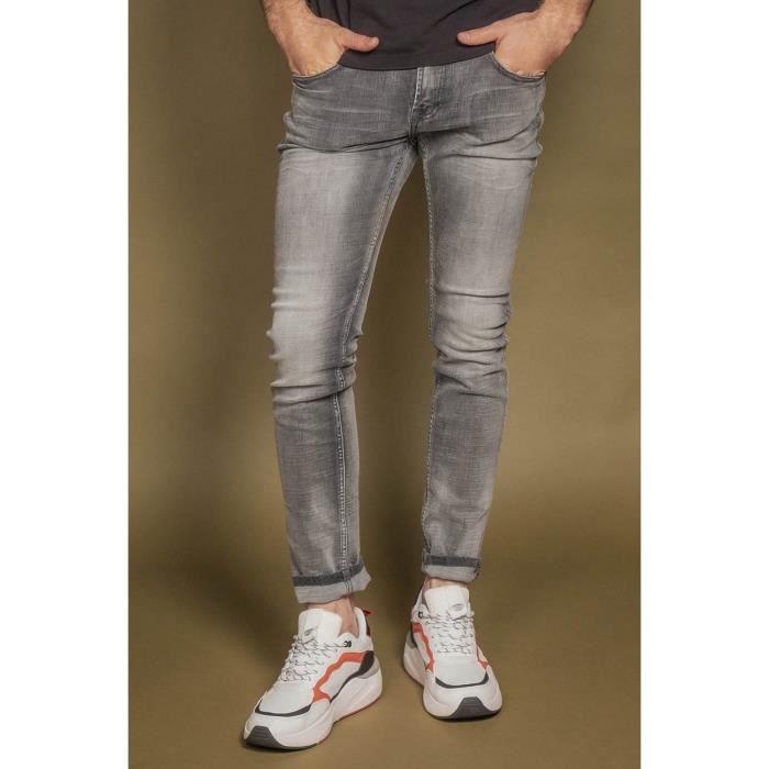 DEELUXE Jeans slim effet usé CARLOS Grey Used