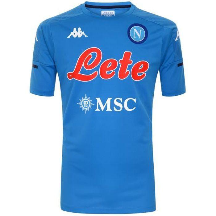 Kappa - T-Shirt Enfant Abouo 4 Napoli Ssc Bleu
