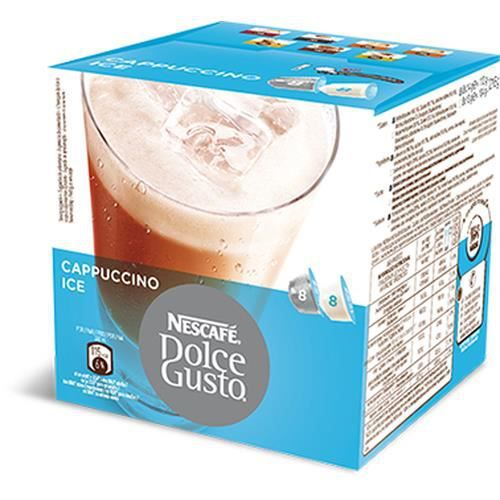 Nescafé Dolce Gusto Cappuccino Ice, 216 g, Capsules, 8 tasses, Bleu, Blanc