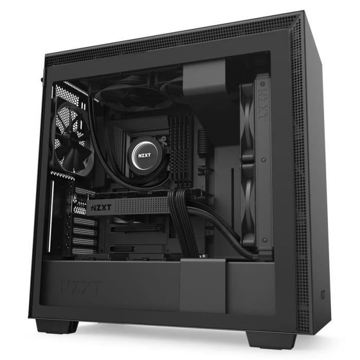 NZXT H710 Midi ATX Tower Noir ( H710 Midi Tower Gaming Case - Black Tempered Glass) - 5060301694976