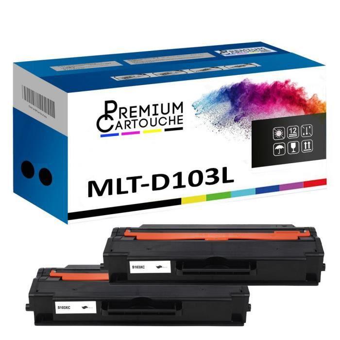 Toner MLT-D103L Noir X2 Compatible pour Samsung ML-2900 Series ML-2950 ND ML-2950 NDR ML-2950 Series ML-2951 D ML-2955 DW ML-2955 F