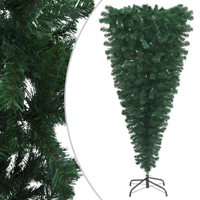 Sapin de Noël artificiel renversé avec support Vert 150 cm FOR-9372011214976