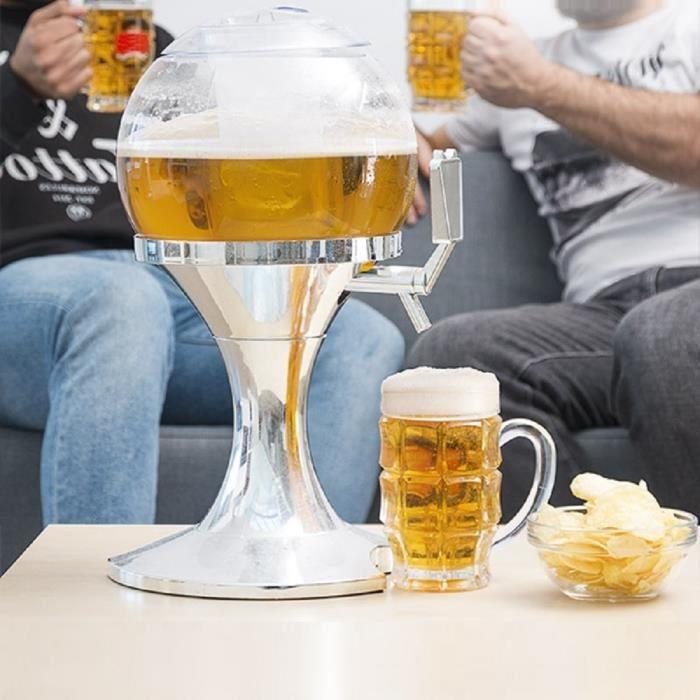 TSC Distributeur de Bière Réfrigérant, boisson, liqueur, bar, bac à glaçon 3,5 Litres Robinet