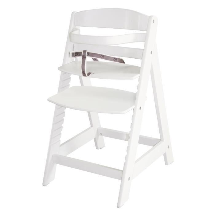 Chaise haute modulable MAXOU - bois - coloris blan