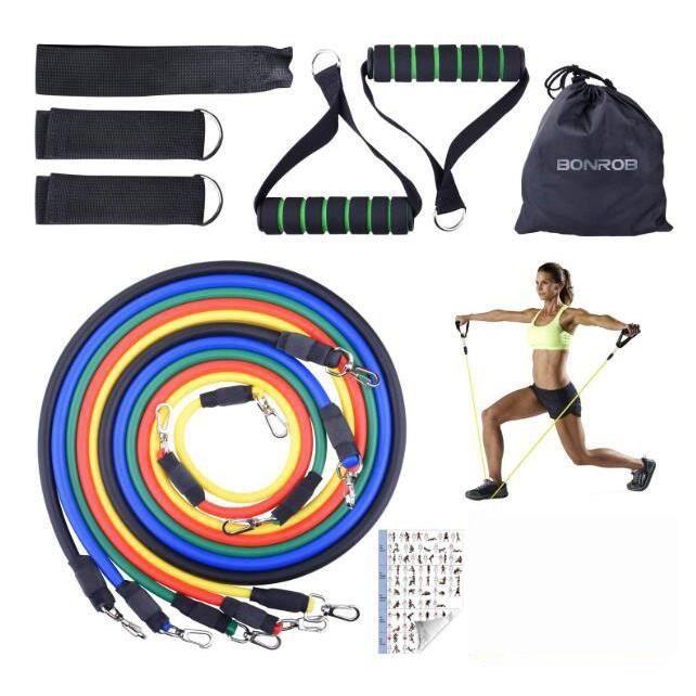 Bande de Résistance, Bandes Elastiques - Bandes Elastiques Fitness d'exercice Bandes d'exercice pour Yoga/Pilates/d'Abs/Gym/Muscula