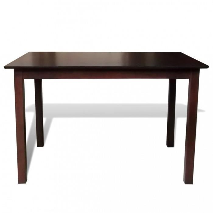 magnifique table a manger marron 110 cm en bois massif. Black Bedroom Furniture Sets. Home Design Ideas