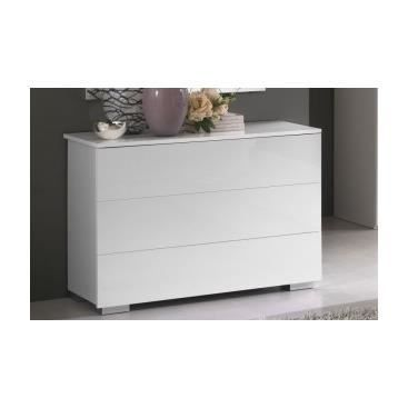 Commode blanc laqu mangrove achat vente commode de - Commode chambre blanc laque ...