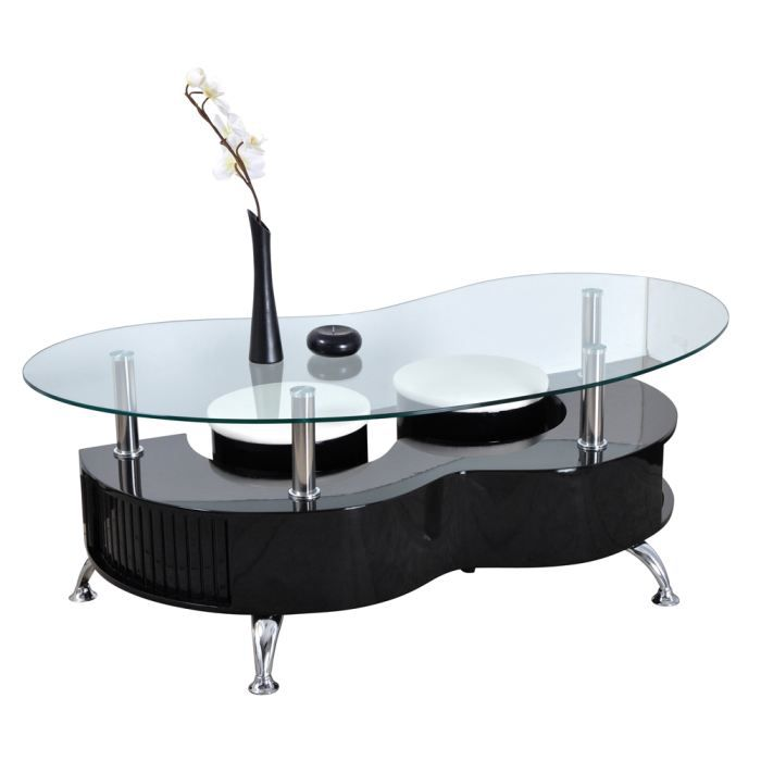 table basse ovale avec pouf images. Black Bedroom Furniture Sets. Home Design Ideas