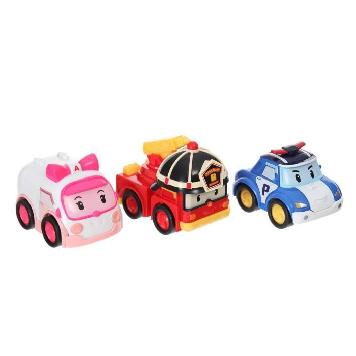 robocar poli pack de 3 vehicules a friction achat vente voiture camion cdiscount. Black Bedroom Furniture Sets. Home Design Ideas