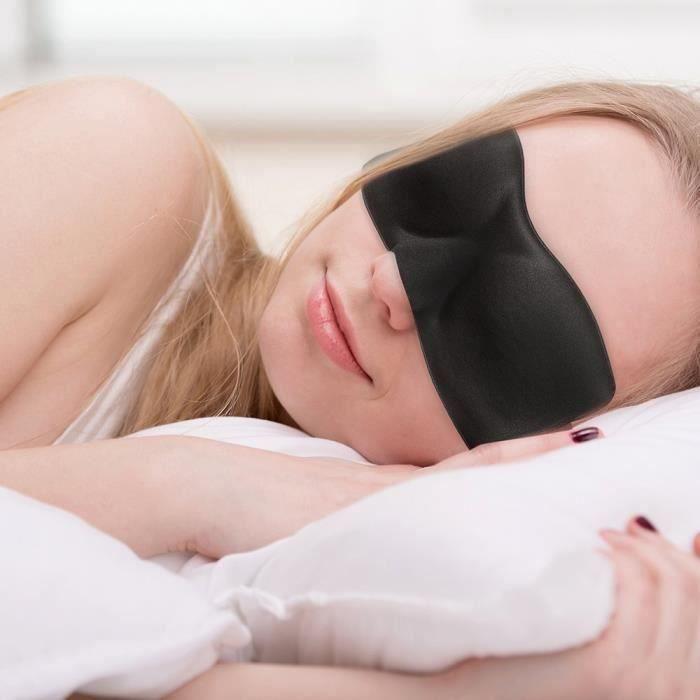 Id/éal pour voyage//dormir travail de nuit ou m/éditation Avec pochette de voyage Souple confortable Masque de sommeil bloquant la lumi/ère Bandeau 100/% fait main Masque de sommeil en coton
