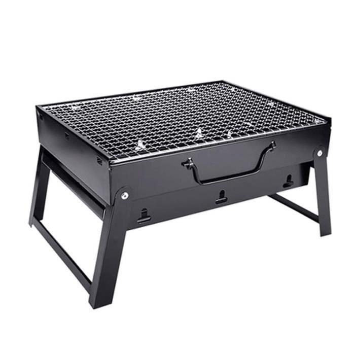 Barbecue BBQ Inox Grill Plancha Charbon Portable Pliable Camping Pique-Nique