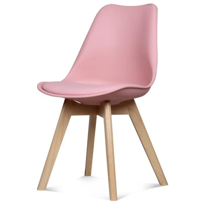 Chaise design scandinave rose scandy achat vente chaise rose cdiscount - Chaise design scandinave occasion ...