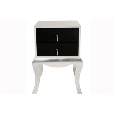 chevet baroque argent et noir luxury achat vente chevet chevet baroque luxury bois. Black Bedroom Furniture Sets. Home Design Ideas