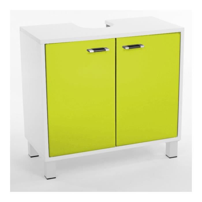 meuble dessous lavabo 2 portes vert achat vente meuble vasque plan meuble dessous lavabo 2. Black Bedroom Furniture Sets. Home Design Ideas