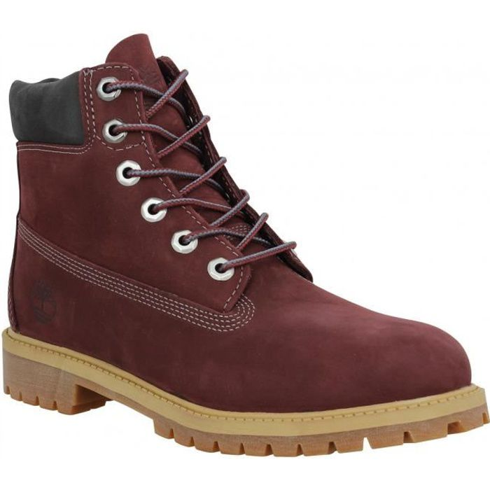 e7a5abaffd0 Bottines TIMBERLAND 6in Premium velours femme Bordeaux - Achat ...