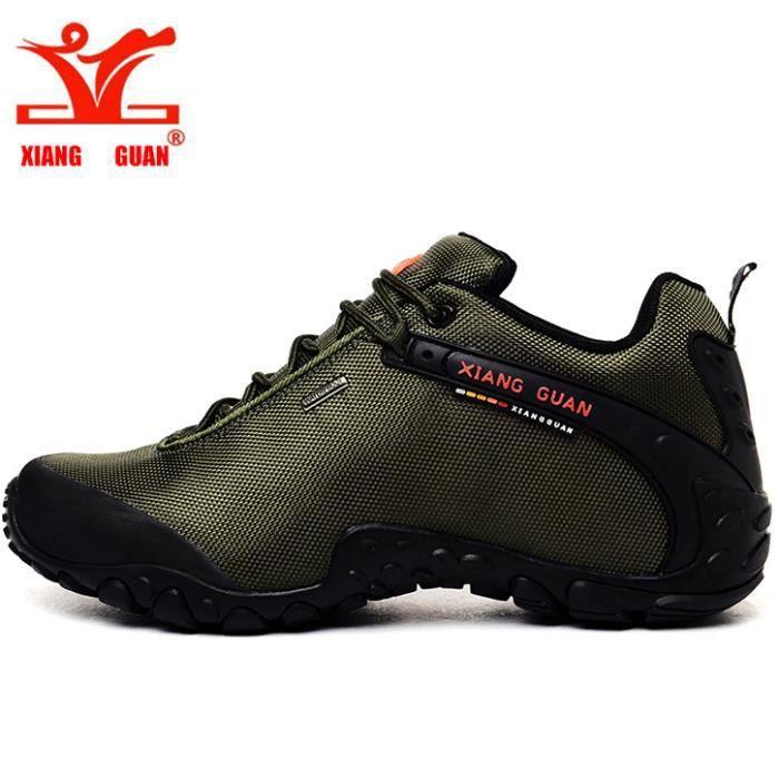 XIANG GUAN Homme Femme Chaussures de randonnée basses Résistance à l'eau Printemps été Chaussures de sports Baskets (Pointure:36 48)