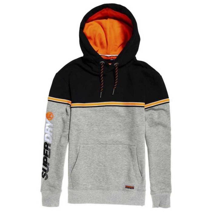 vêtements homme sweatshirts superdry applique oversized nu lad. sweat à capuche oversize avec logo appliqué nu lad superdry homme. s