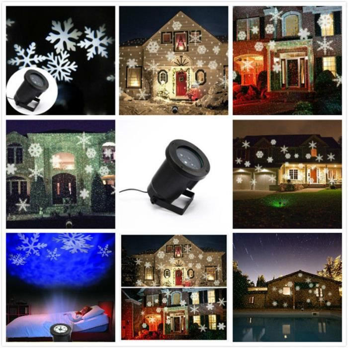 Projecteur d 39 ext rieur no l mini led romantique for Projecteur exterieur noel