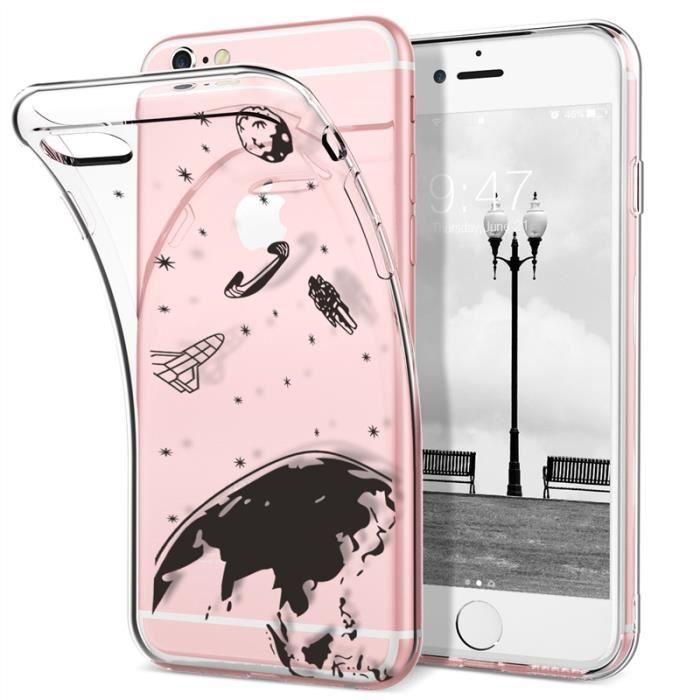 Coque iphone 6-6s SMARTLEGEND Silicone Transparent Souple Anti ...