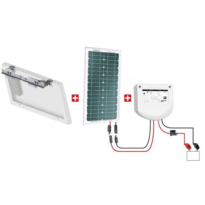 kit motorisation portail solaire 12v uniteck 20w achat. Black Bedroom Furniture Sets. Home Design Ideas