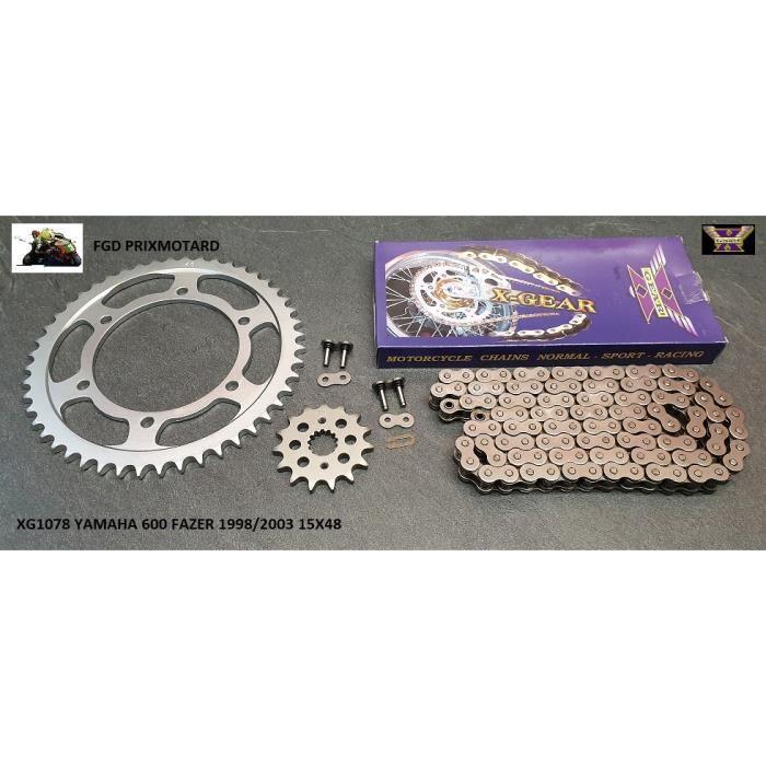 kit acier pour YAMAHA FZS 600 Fazer 1998-2003 Afam 01270203 Kit cha/îne de moto