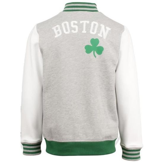 Blouson Adidas NBA Letterman Boston Celtics Gris Achat