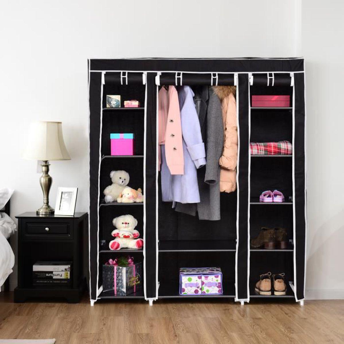 Ajouter Une Étagère Dans Un Placard armoire penderie pliable en non-tissé etagère de vêtement