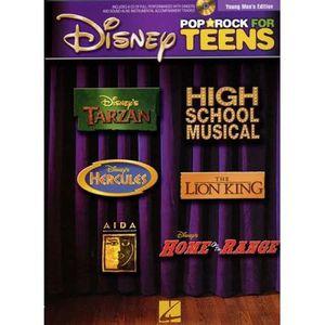 AUTRES LIVRES Disney pop rock for teens young men ; piano, ch...