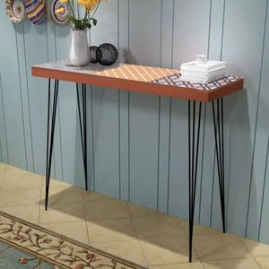 TABLE BASSE Table console 90 x 30 x 71,5 cm Marron #N19374