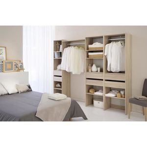 AMENAGEMENT DRESSING Easy Dress en 60 - 2 étageres