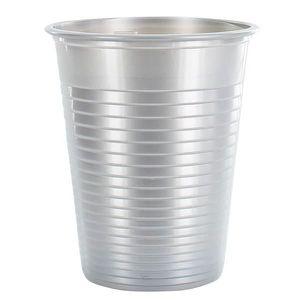 VERRE JETABLE Gobelet plastique 20cl Argent par 50