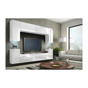 MEUBLE TV Meuble de salon, meuble TV complet suspendu CONCEP
