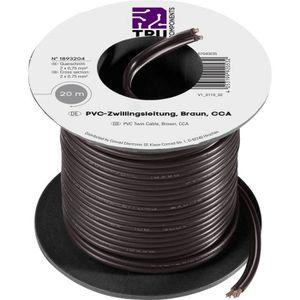 Fil de c/âblage Conrad Components 93030c526 2 x 0.50 mm/² noir 50 m