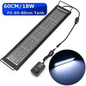ÉCLAIRAGE 60cm LED Aquarium 18W 78smd Lampe Rampe Éclairage