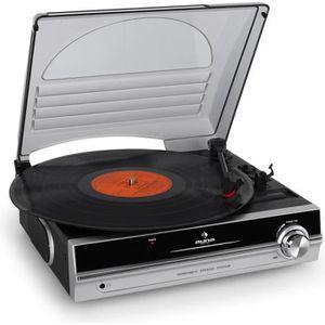PLATINE VINYLE auna Platine tourne disque vinyle compacte avec co