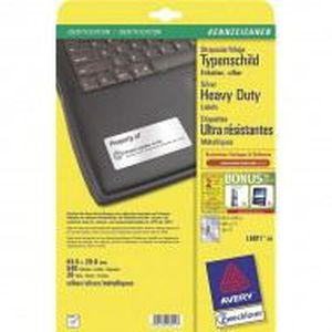 Étiquette classement Avery - L6011-20 - 540 Étiquettes ultra-résistan…