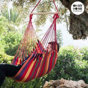 HAMAC Chaise suspendue en bois coton et polyester - Hama