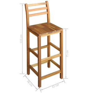 TABLE À MANGER COMPLÈTE Tidyard Mobilier de Bar 5 pcs | Table et Chaises H