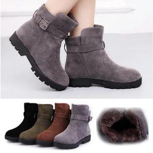 Homme Femme Suède Chaussures Talons Bottes Boots Huats en n80wmN