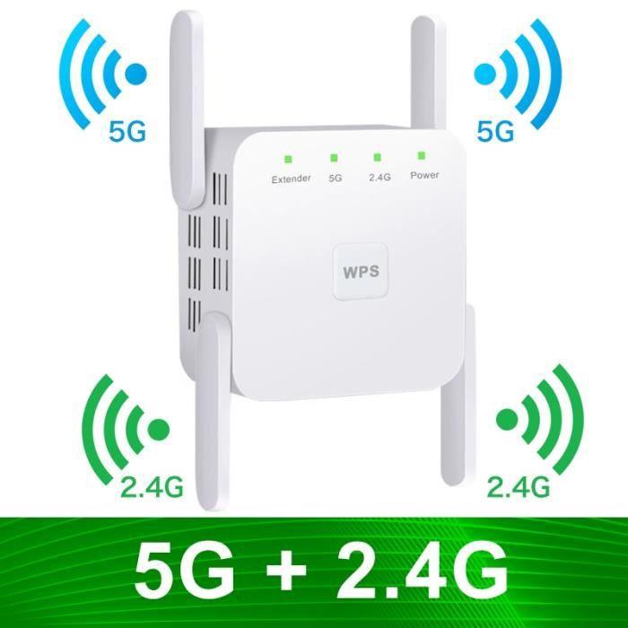 Wi-Fi Extender 5G Wifi répéteur Wifi Extender Wifi amplificateur 2.4G sans fil longue portée Wi-Fi Booster Wi-fi répéteur Signal